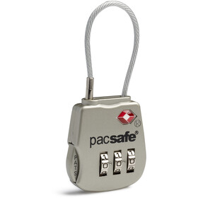 Pacsafe Prosafe 800 TSA Accepted 3-dial Cable Lock silver